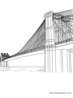 brooklyn bridge coloring pages - photo#18