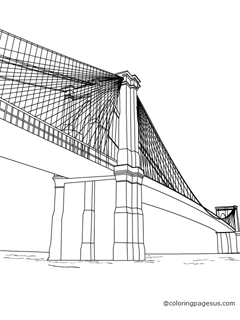 brooklyn bridge coloring pages - photo#17
